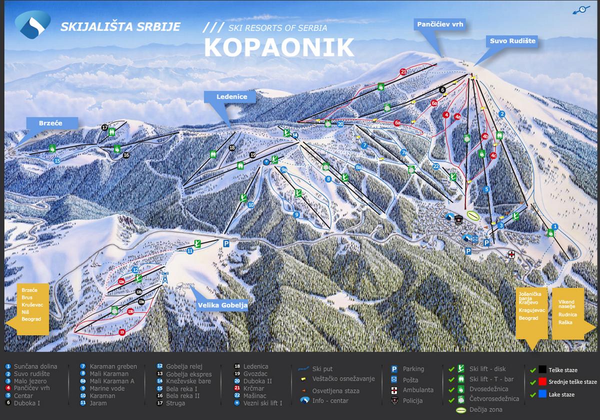 Ski staze na Kopaoniku